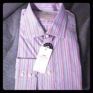 Hawes & Curtis Orange & Purple Dress Shirt
